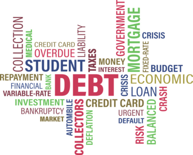 debt word graphic